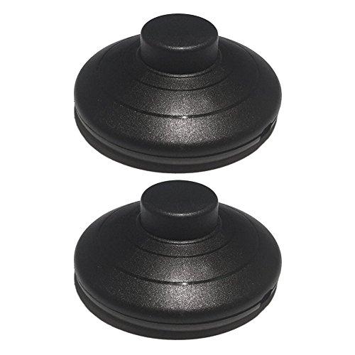 2 interruptores pedal pie negro 2 3 núcleos redondos