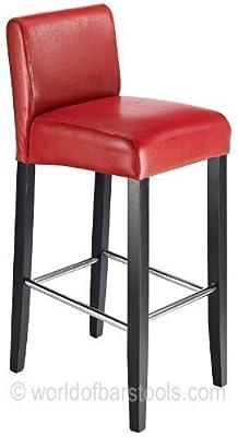 Steffano Bar Stool Red