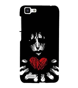 A2ZXSERIES Lonely Heart Man Back Case Cover for Vivo Y27l back cover (Designer printed cover)