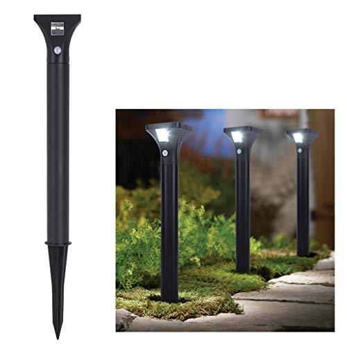 FeiliandaJJ Solar Garten Licht mit Bewegung Sensor Edelstahl IP65 Wasserdicht LED Licht für Draussen Garten Hof Landschaft Terrasse Bürgersteig Rasen Weg Einfahrten (A)