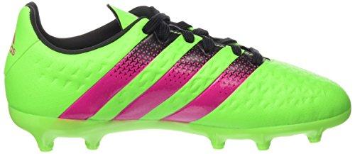 adidas Ace 16.3 Fg/Ag J, Chaussures de Football Mixte Bébé Vert / Rose / Noir (Versol / Rosimp / Negbas)