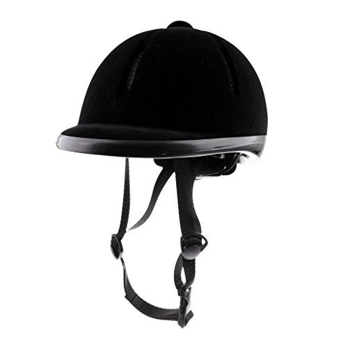 MagiDeal Reithelm Verstellbar Helm Schwarz