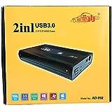 "Electrobot 2in1 USB 2.0 Sata 2.5""/ 3.5"" Dual External Sata Hard Disk Drive Case-AD-992"