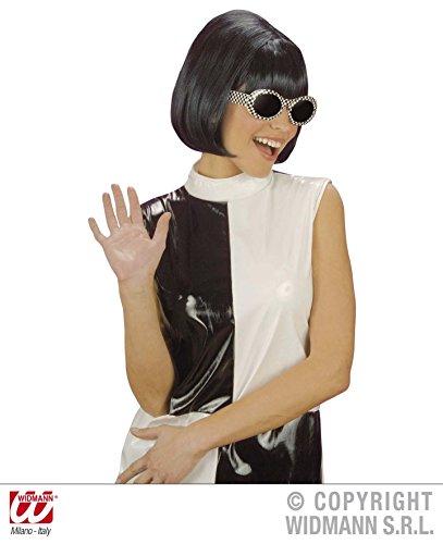 PERÜCKE SCHWARZ - 60er JAHRE (Jahre 60er Frauen Kostüme)