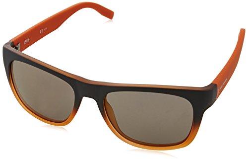 Boss Orange Unisex-Erwachsene Sonnenbrille 0249/S Ct, Schwarz (Grey Orange Q5l), 53 (Aviator Sonnenbrillen, 53mm)