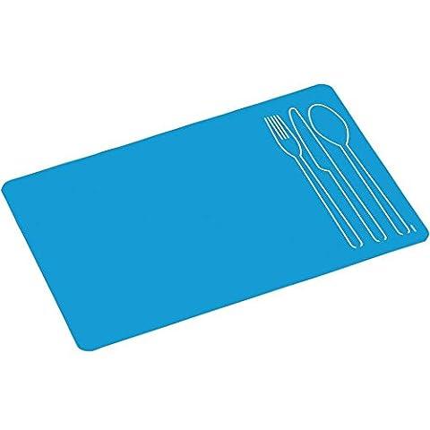 Kesper 77573 Set de Table Antidérapante Polyuréthane/Coton Bleu 40 x 30 x 2 cm