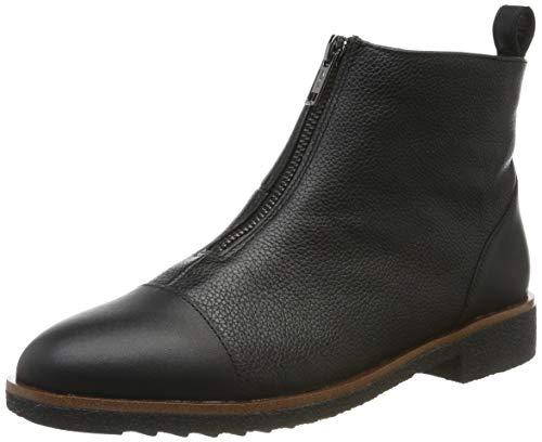 Clarks Griffin Valley, Botas Estilo Motero para Mujer, Negro Black Leather Black Leather, 39 EU