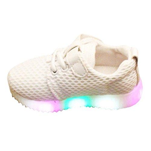 e LED Schuhe,Juleya USB Aufladbare Leuchtschuhe Kinderschuhe für Halloween Weihnachten Dank Giving Day Weiß/24 (Halloween Schuhe)
