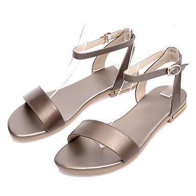 LvYuan Damen-Sandalen-Büro Kleid Lässig-PU-Niedriger Absatz-Andere-Schwarz Weiß Gold Black