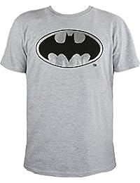 T-shirt gris logo batman