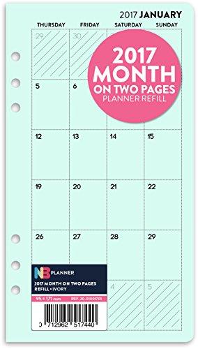2017-mois-sur-deux-pages-planner-recharge-insert-english-filofax-personal-compatible-turquoise-paste