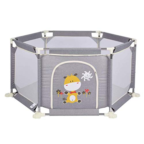 GWFVA Adorable Safety Play Center Yard Baby Playpen with Extra Cushioning for Safety, Portable Compact for Travel, Indoor and Outdoor Play Yard