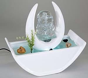 formano zimmerbrunnen mit glaskugel aus kunststein mit led beleuchtung 26 cm k che. Black Bedroom Furniture Sets. Home Design Ideas
