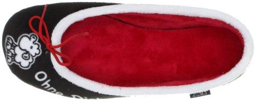 Sheepworld 340114 Unisex-Erwachsene Flache Hausschuhe Schwarz (schwarz/weiß/rot)