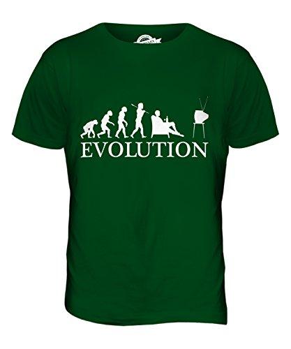 CandyMix Fernsehen Evolution Des Menschen Herren T Shirt Flaschengrün