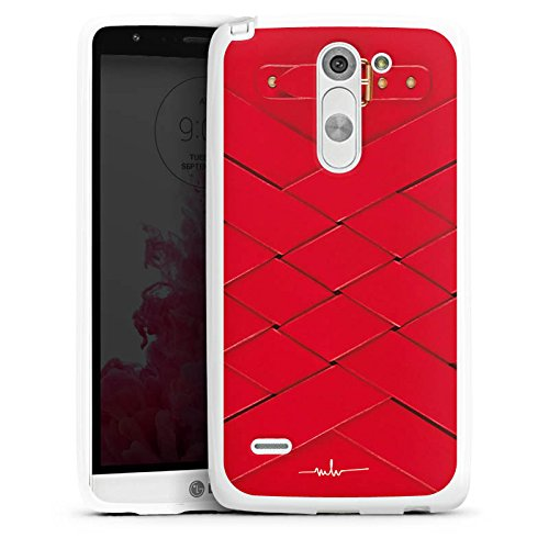 DeinDesign Silikon Hülle kompatibel mit LG G3 Stylus Case Schutzhülle Schnalle Ruby Fashion Mode Stylus Ruby
