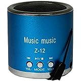 INCONNU Mini haut-parleur portable Filaire Music Z-12 USB Jack Bleu