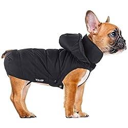 Biozoo Chubasquero Abrigo Acolchado Para Perro Negro