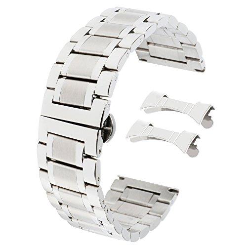Metall-Ersatz-Uhrenarmbänder 16mm Qualitäts-Edelstahl-Uhrenarmband