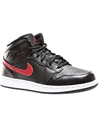new concept d0f99 ccb2e Nike Air Jordan 1 Mid BG- Chaussures de Basketball Garçon, Noir (Black