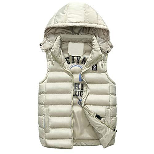 Gilet da uomo invernale, rcool giacca uomo caldo cappotto doppia faccia indossare giaccone piumino senza maniche cappotti con cappuccio casuale veste giubbotto pesante,