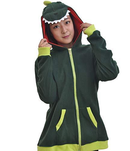 DATO Tier Kapuzenpullover Karikatur Dinosaurier Unisex Erwachsene Cospaly Hoodie Jacke mit Reißverschluss Sweatshirt (Dinosaurier Erwachsene Hoodie)