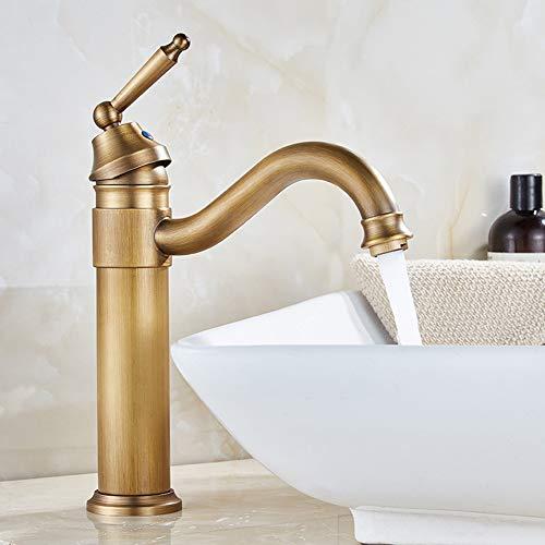 MNSSRN Innovativer kupferner Retro Hahn, weiches Wasser und Wassersparendes Wasser-Sprudler-weiches Wasser, Waschbecken-Bassin-Hahn-rustikaler Art,B -