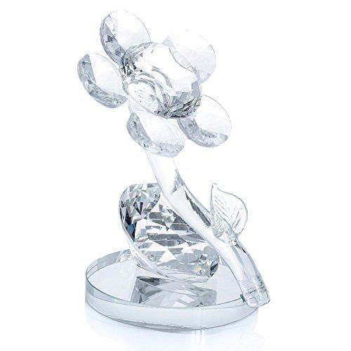 London boutique decorativo fiore doppio doppio cigno con cristalli swarovski elements gift prsent (flower)