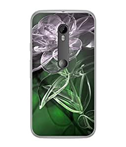PrintVisa Transparent Floral High Gloss Designer Back Case Cover for Motorola Moto G3 :: Motorola Moto G (3rd Gen) :: Motorola Moto G3 Dual SIM