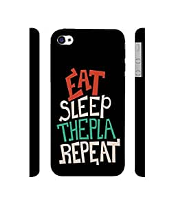 NattyCase Eat Sleep Design 3D Printed Hard Back Case Cover for Apple iPhone 4 / 4S