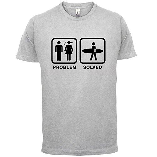 Problem gelöst - Surfen - Herren T-Shirt - 13 Farben Hellgrau