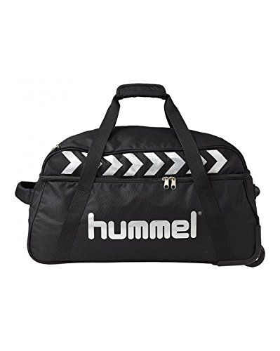Hummel Trolley AUTHENTIC TEAM M, Black/Silver, 60 x 33 x 35 cm, 69 Liter, 40-967-2250