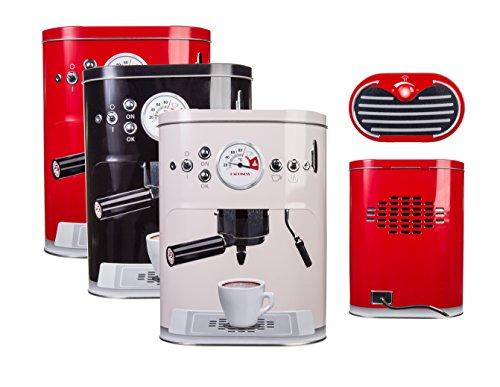 Bada Bing Metalldose Kaffeedose Espresso Maschine KLEIN Kaffee Pad Retro Kaffeemaschine 935