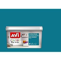 AVI - COLORE TOUTES PIECES - Haut Pouvoir Opacifiant - Satin - 2,5L - Bleu Bonheur