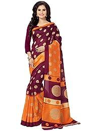 Venisa Women's Cotton Saree With Blouse Piece (Vns1234, Multicolor, Free Size)