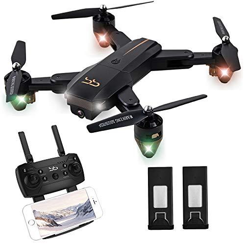 ScharkSpark Drohne Rail at mit Live-Video-Kamera, RC Quadcopter mit 2 Batterien, Einfach für Anfänger zu steuern, faltbare Arme, 2,4 G 6-Achsen, Kopflos-Modus, Höhe- halten-Funktion