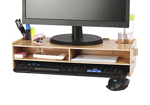 AZLife Holz Monitor Ständer DIY Verbindung Bildschirmerhöher Schreibtischregal für Laptops, Drucker oder Monitor, iMac, LCD TV...
