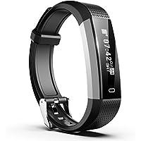 Smiphee Fitness Tracker N1 Tracker Attività Pedometro, Orologio Fitness Impermeabile Sport Braccialetto Fitness Orologio Da Polso Monitor Sonno per iOS & Android (Nero)