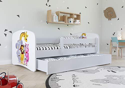 Kocot Kids Kinderbett Jugendbett 70×140 80×160 80×180 Weiß mit Rausfallschutz Matratze Schubalde und Lattenrost Kinderbetten für Mädchen und Junge – Fee mit Schmetterlingen 180 cm - 3