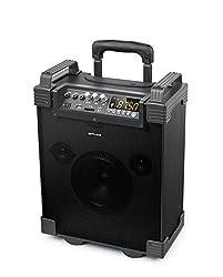 Muse M-1910 Mobile PA-Anlage Akku, MP3, USB, SD, 1 Mikrofon, Bluetooth, 100 Watt, AUX, Gitarreneingang, Fernbedienung, schwarz