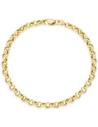 Carissima Gold 9 ct White Gold Belcher Bracelet