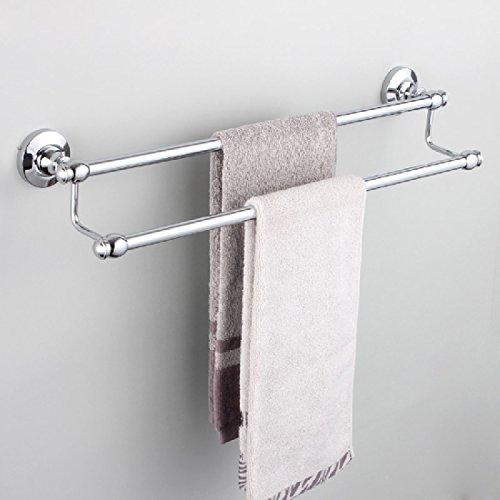 ZHGI Asciugamano in ottone altezza rack Portasciugamani doppia appendere asciugamani wc bagno ispessita