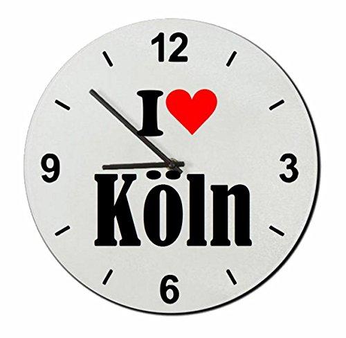 """Exklusive Geschenkidee: Glasuhr """"I Love Köln"""" eine tolle Geschenkidee die von Herzen kommt- Uhr- Weihnachts Geschenktipp"""