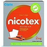 Cipla Nicotex Nicotine Gum - 2 mg (9x10 Pieces, Cinnamon)