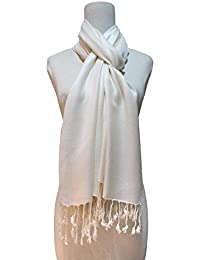 Vozaf Women's Viscose Shawls - Cream