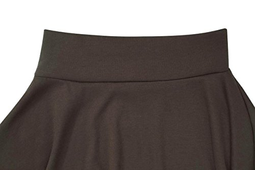 Hownew-X Damen Pullover Casual Langarm Rundhals Asymmetrisch Oberteile Oversize Langarmshirt Sweater Kaffeebraun