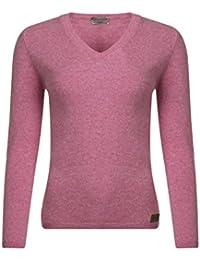 Great   British Knitwear Damen HJ201 100% Lammwolle Pullover mit  V-Ausschnitt mit Ellenbogen 7feee2a423