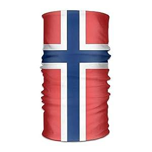 RGFJJE Sturmhauben Norway Flag Multifunctional Magic Headwear 12-in-1 Men&Women Tube Scarf Facemask Headbands Neck Gaiter Bandana