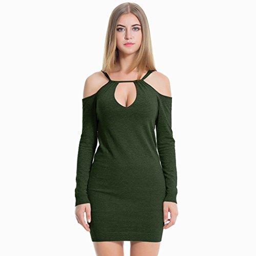 Dress Green Frauen Shirt Lime Für (lime Lady Herbst und Winter sexy Knit Dress elegante trägerlosen Pullover Tops ( Farbe : Grün , größe : F ))