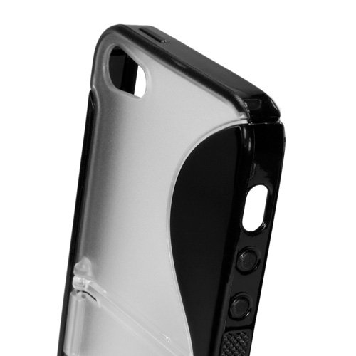 BoxWave Étui Colorsplash Apple iPhone 5 Étui de protection en TPU avec support - Durable, avec support pliable avec Sleek, Hybride Double Couleur S-Line Coque en gel TPU Flexible - Apple